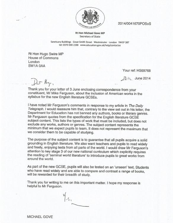 gove letter 2