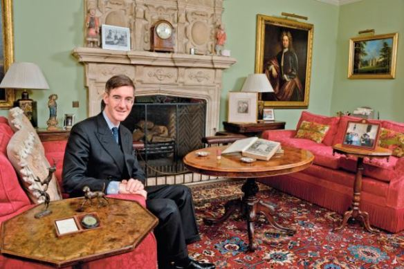 Jacob Rees-Mogg 'My Haven' Living room of his Somerset home