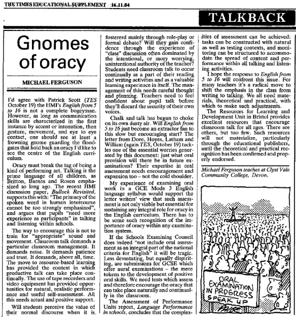 gnomes of oracy