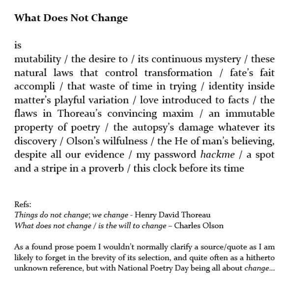 what does not change 2