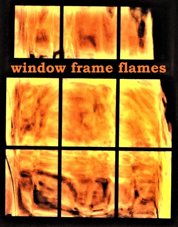 window frame flames