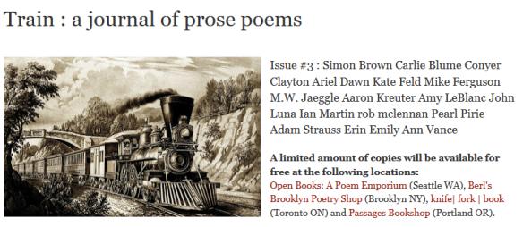 train poems