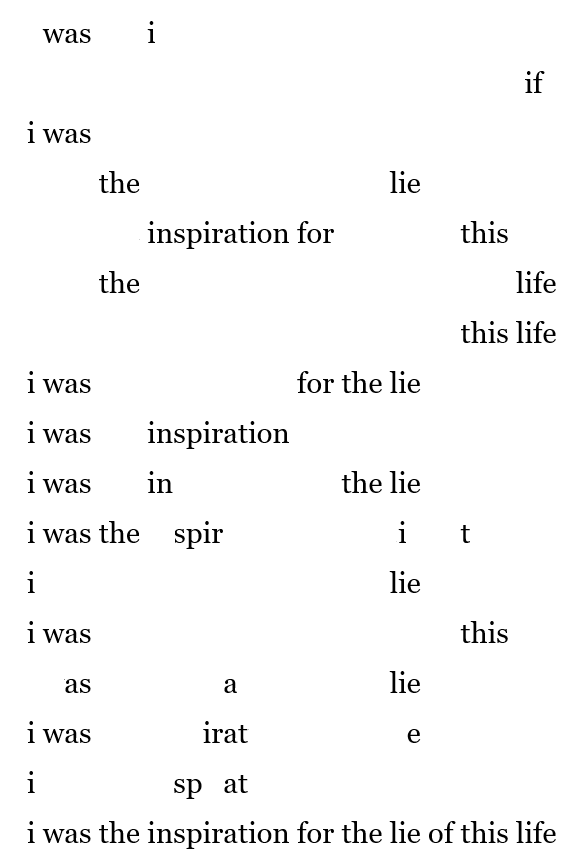 i was the inspiration final poem