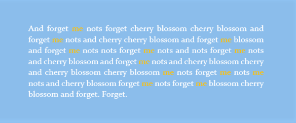 cherry forget me