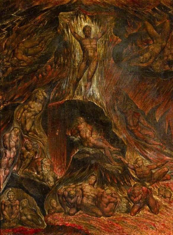 Blake, William, 1757-1827; Satan Calling up His Legions